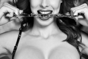 Sexy dominatrix bite handcuffs black and white bdsm ** Note: Soft Focus at 100%, best at smaller sizes Relationship Goals Relationships Relationship Advice